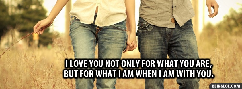 When I Am With You Facebook Cover