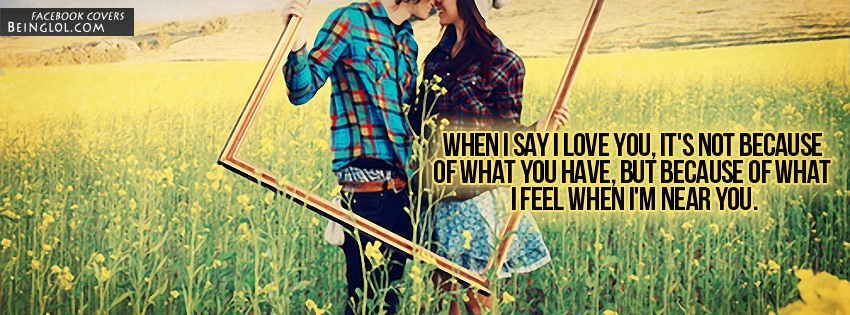 When I Say I Love You Facebook Cover
