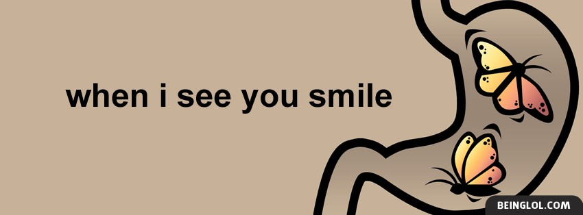 When I See You Smile Facebook Cover