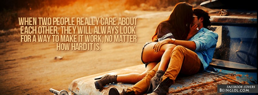 When Two People Really Care Facebook Cover