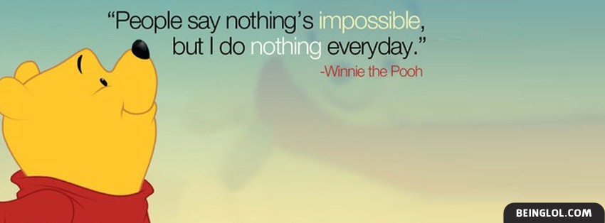 Winnie The Pooh Quote Facebook Cover
