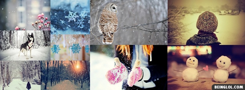 Winter Collage Facebook Cover