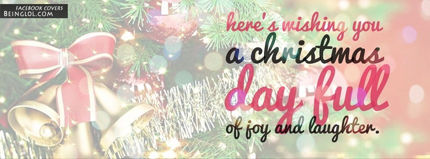Wishing You A Christmas Day Full Of Joy And Laughter Facebook Cover