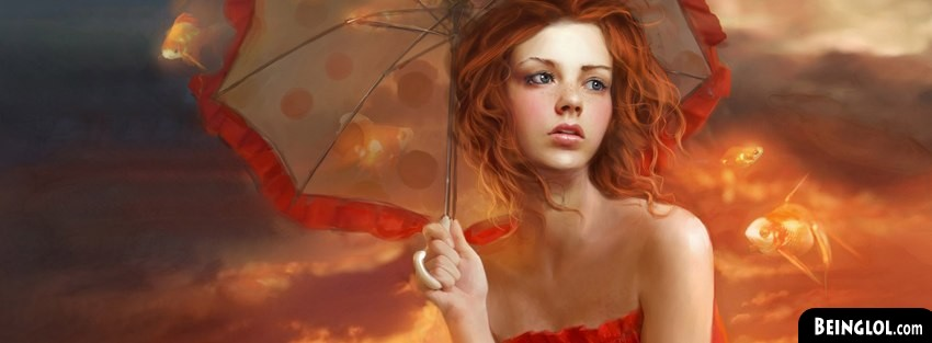 Woman And A Goldfish Fantasy Art Facebook Cover