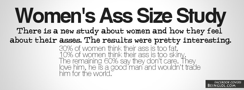 Women's Ass Size Study Facebook Cover