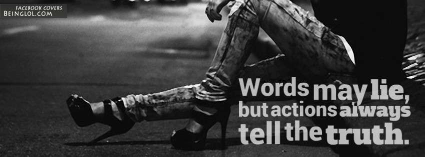 Words May Lie Facebook Cover