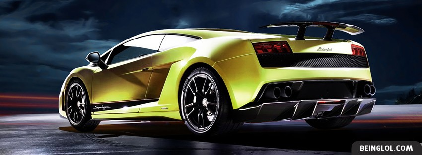 Yellow Lamborghini Gallardo Lp570-4 Facebook Cover