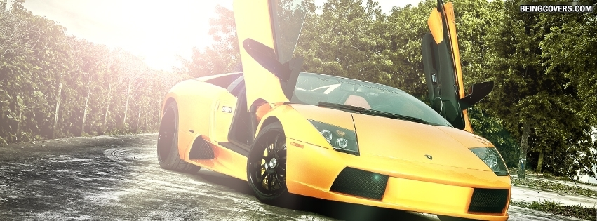 Yellow Lamborghini Facebook Cover