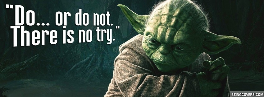 Yoda Do Or Die. Facebook Cover