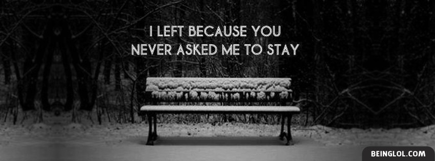 You Never Asked Me To Stay Cover