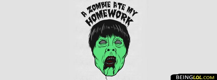 Zombie Ate My Homework Facebook Cover