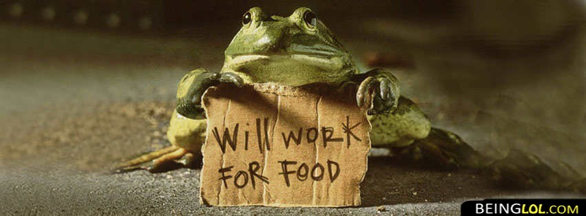 Will Work For Food Facebook Cover