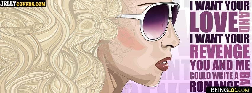 bad romance facebook cover Cover