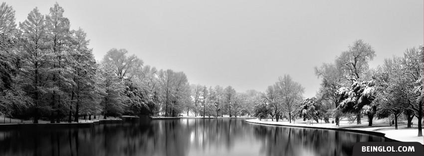 Beautiful Winter Snowy Lake Cover