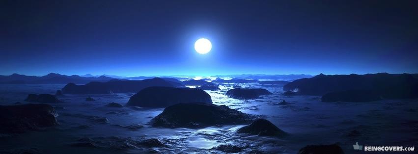 Blue Sunset Facebook Cover