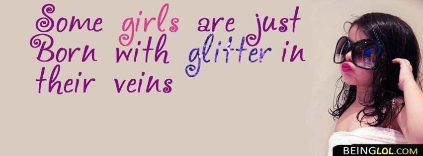 Born With Glitter Facebook Cover