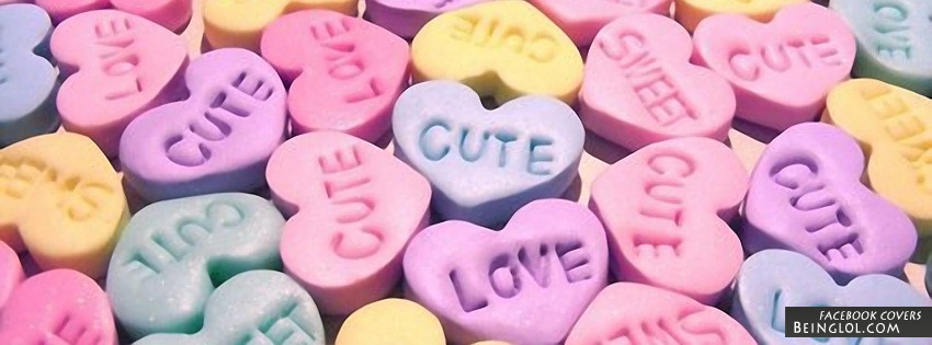 Candy Hearts Facebook Cover