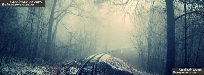 Cold Train Tracks Facebook Cover