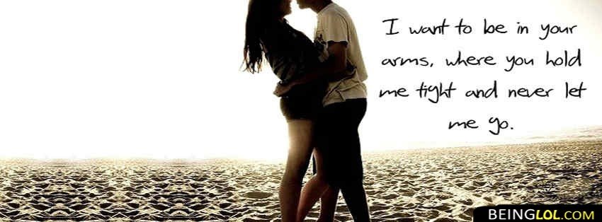 Cute Couple Quote Facebook Cover