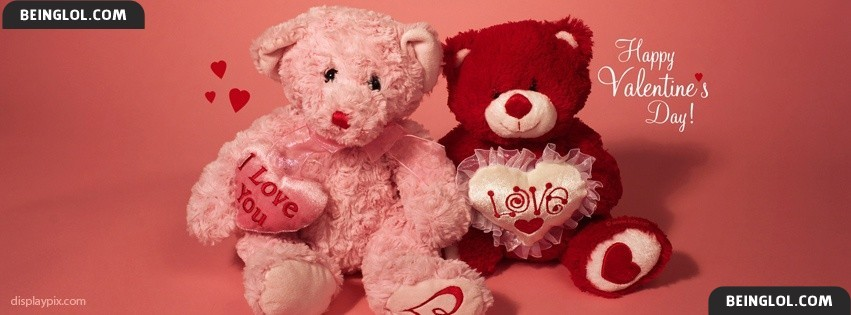 Cute Teddy Bears Of Valentine Day Facebook Cover
