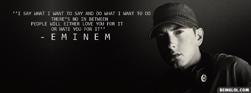 Eminem Marshall Mathers Quote Cover