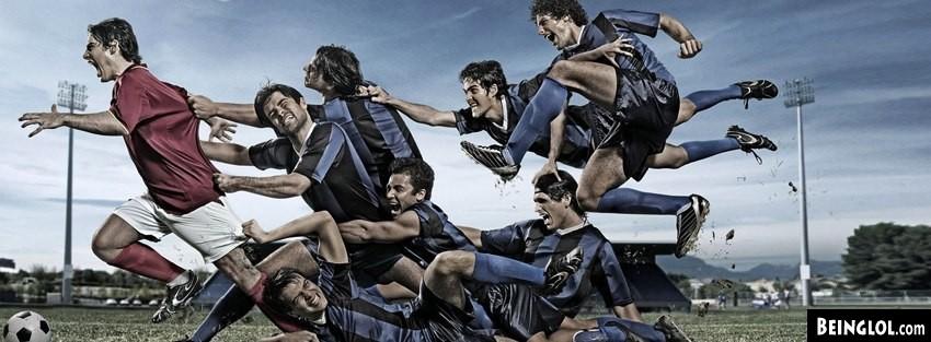 Epic Soccer Moment Red Vs Blue Cover