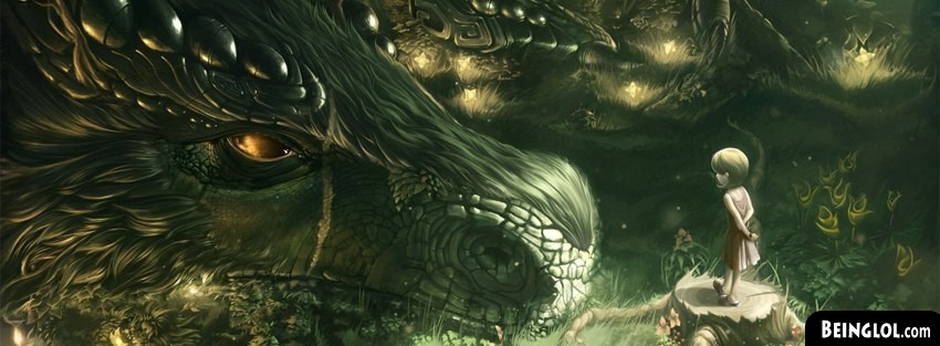 Forest Monster Fantasy Art Facebook Cover