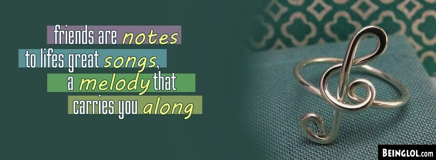 Friends Are Notes Facebook Cover