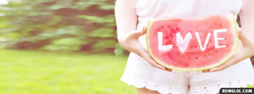 Girl Watermelon Love Facebook Cover