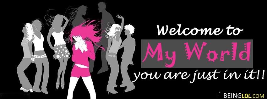 Girly Attitude My World Girls Attitude For Girls Facebook Cover