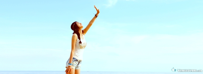 Happy Girl Blue Sky Cover