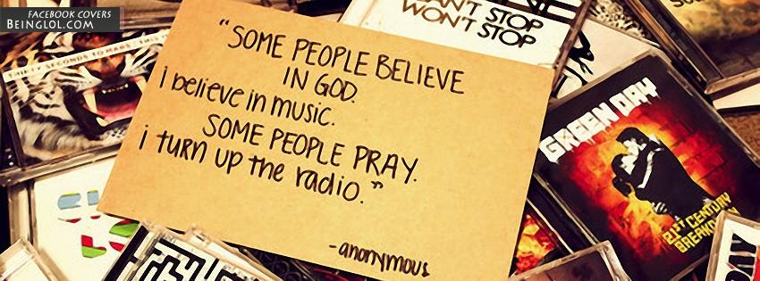 I Believe In Music Facebook Cover