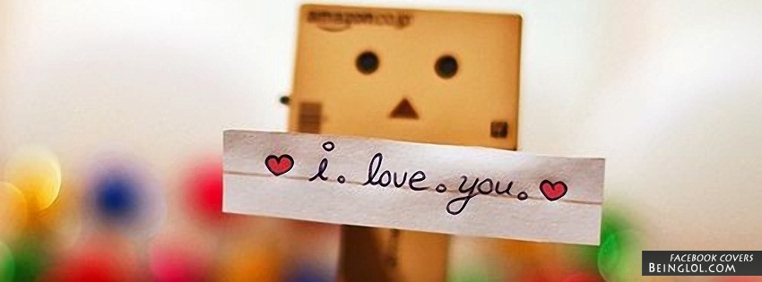 I Love You Danbo Facebook Cover