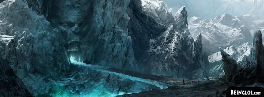Ice Mountains Fantasy Art Facebook Cover