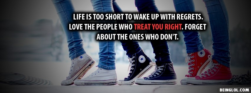 Life Is Too Short Facebook Cover