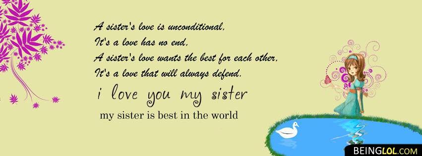 Love You Sister Facebook Cover Facebook Cover