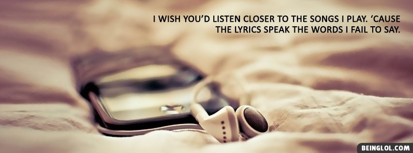 Lyrics Speak The Words Facebook Cover
