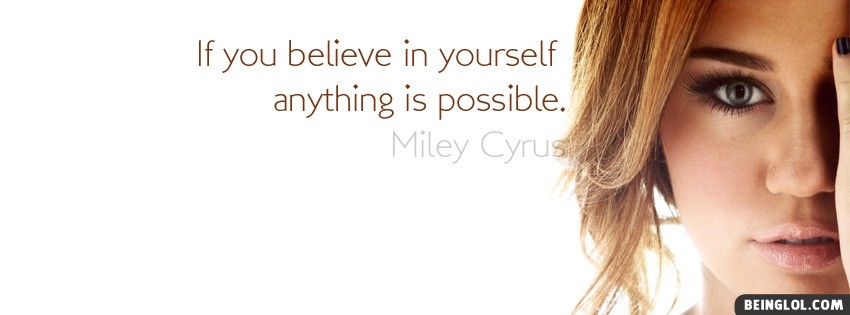 Miley Cyrus Quote Cover