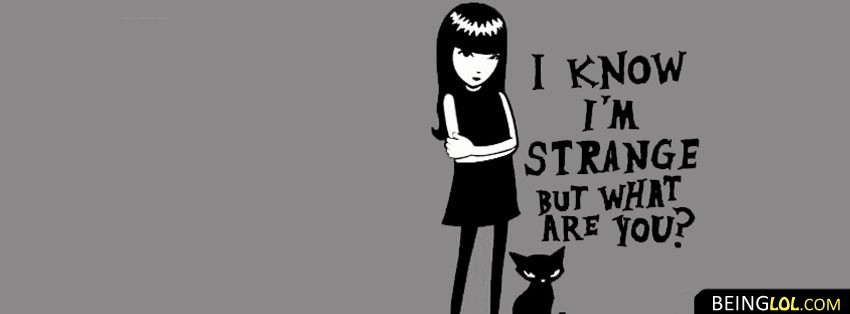 Mystery Girl Quote Facebook Cover