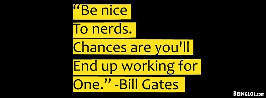 Nerd Typography Inspirational Text Quotes Facebook Cover