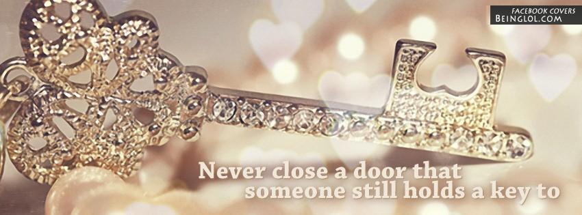 Never Close A Door Facebook Cover