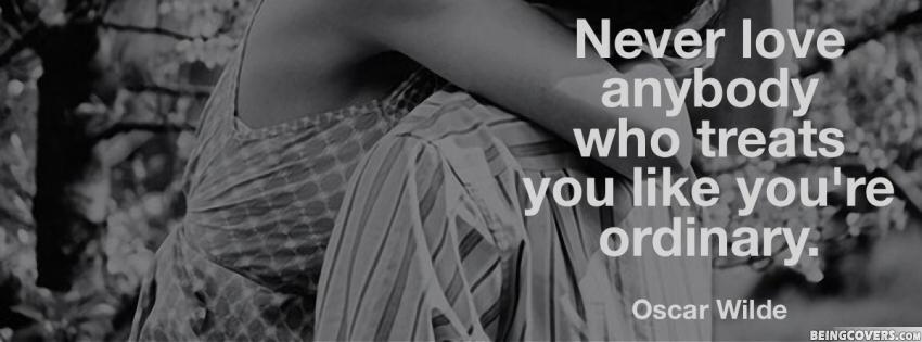 Never love anybody Who Treats You Like Cover