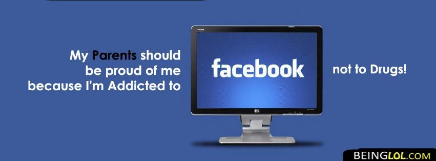 proud facebook addict Cover