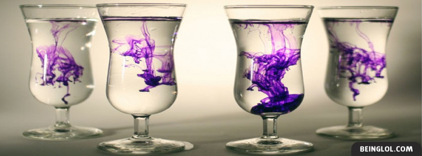 Purple Water Effect Facebook Cover