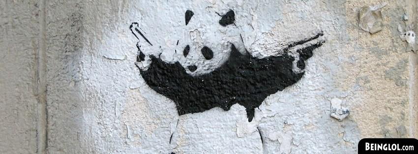Street Art Panda Holding Guns Cover