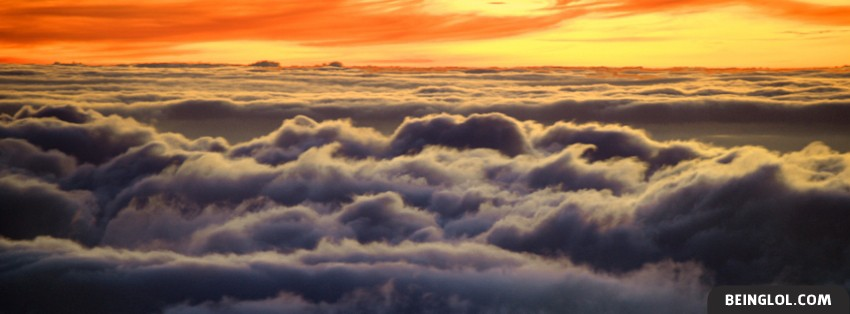 Sunset Above The Clouds Cover