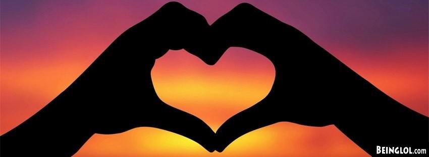 Sunset Hand Heart Cover