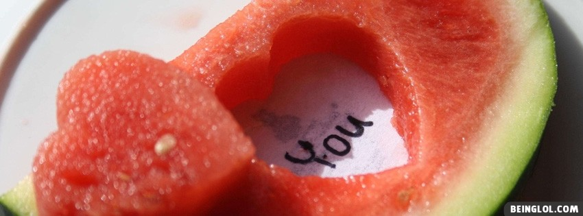 Watermelon Love You Facebook Cover