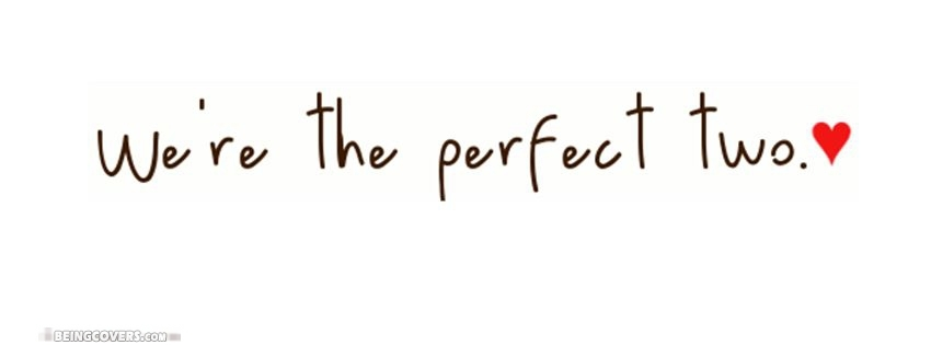 We are perfect two Cover