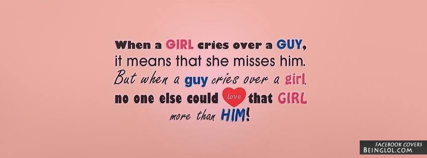 When A Girl Cries Facebook Cover